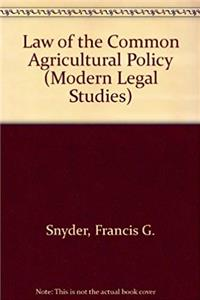 Download Law of the Common Agricultural Policy (Modern Legal Studies) fb2